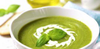 zucchini soup in a bowl
