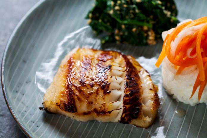 Black Cod Recipe on a plate