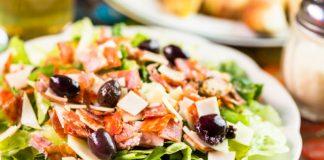 Italian chopped salad on a plate