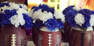 football flower vases