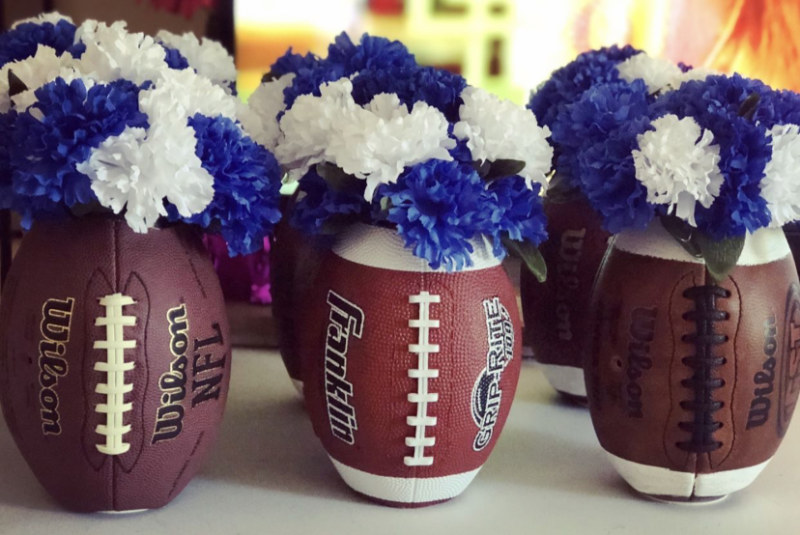 Football Party Ideas Diy Football Flower Vase Z Living