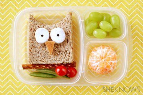 Owl Shaped Sandwich
