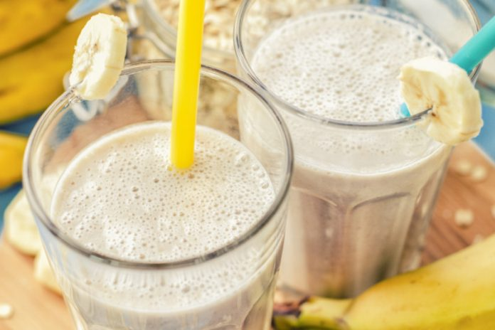 protein shakes in glasses