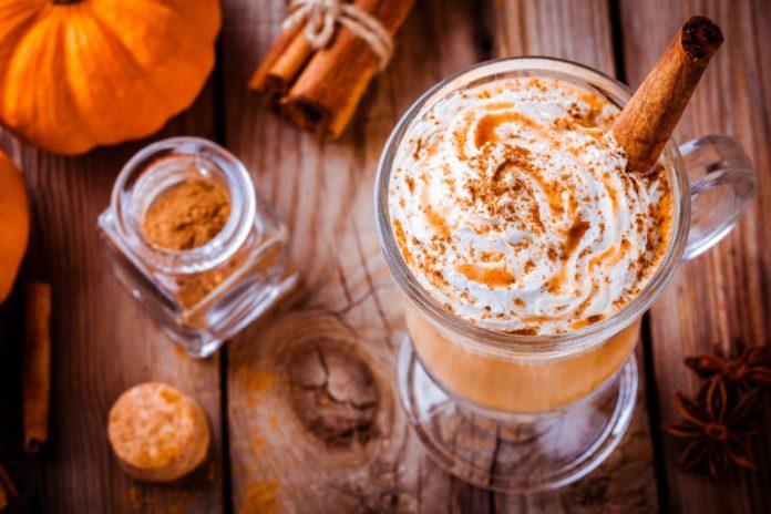 pumpkin spice latte in a cup