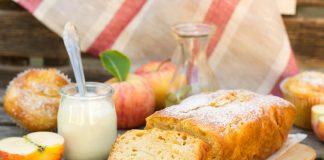 loaf of apple bread made with greek yogurt