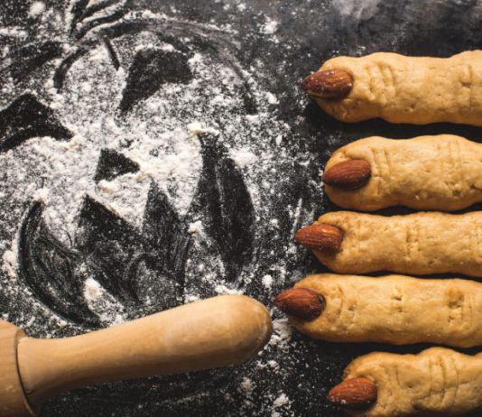 Breadsticks as Monster Fingers or Witch Fingers