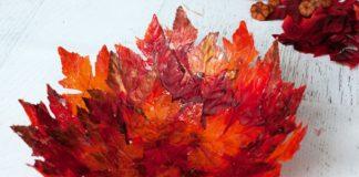 autumn leaf bowl craft