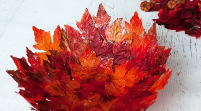 autumn leaf bowl craft