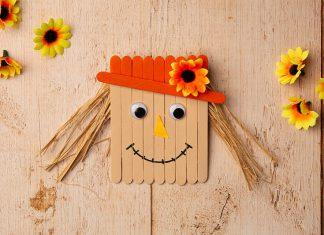 popsicle stick scarecrow - hero image
