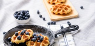 gluten-free waffles with fresh berries