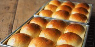 Gluten-free rolls in a bakign pan