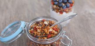 grain-free granola in a jar