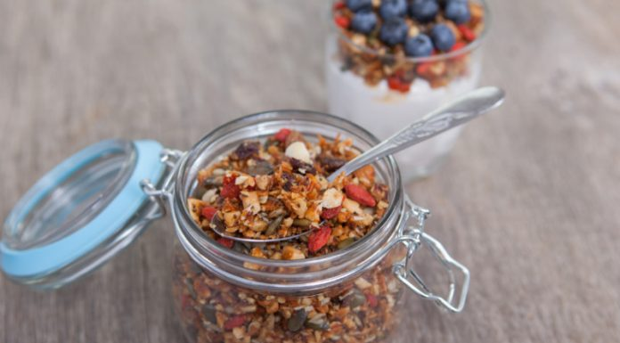 grain-free granola in a jar