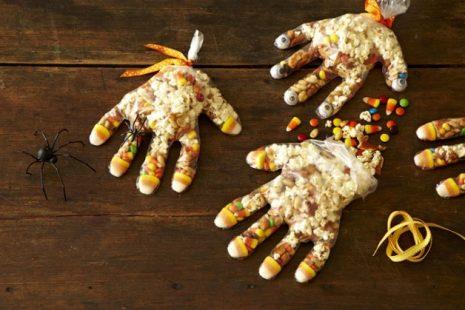 popcorn hands for halloween treat bags