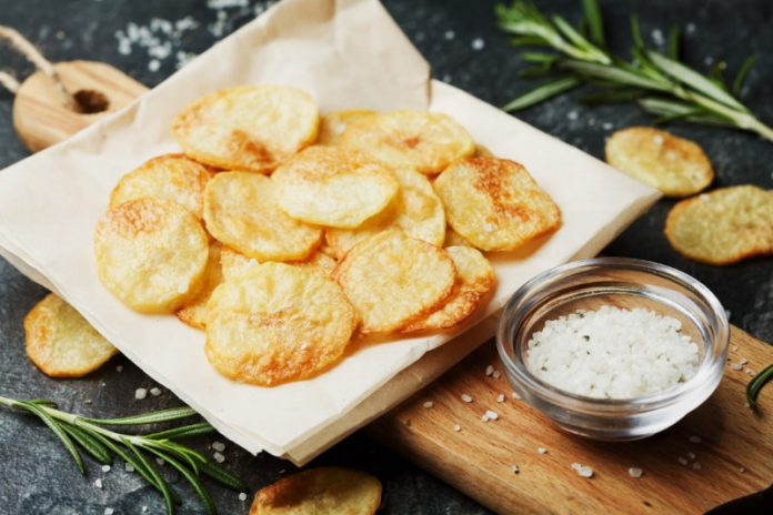 Homemade Potato Chips made in the air fryer