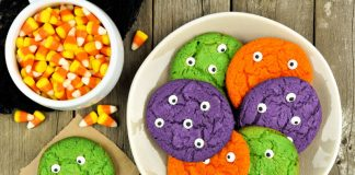 monster cookies with eyeballs for halloween
