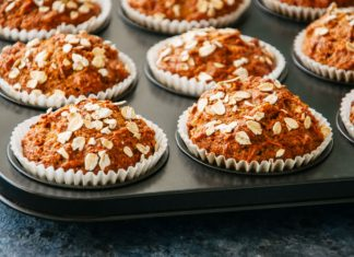 Morning Glory Muffins in a muffin pan