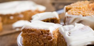 frosted pumpkin bars gluten-free, sugar-free, and low-carb