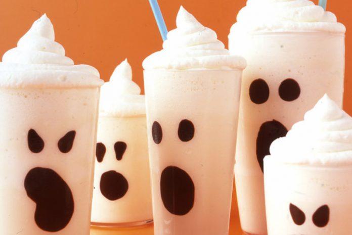 ghost vanilla milkshakes