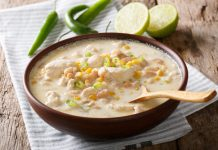 bowl of white chicken chili