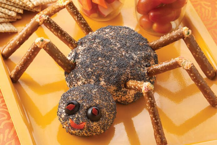 Spider Cheese Ball Recipe for Halloween