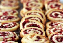 cranberry orange cookies piled on top of each other