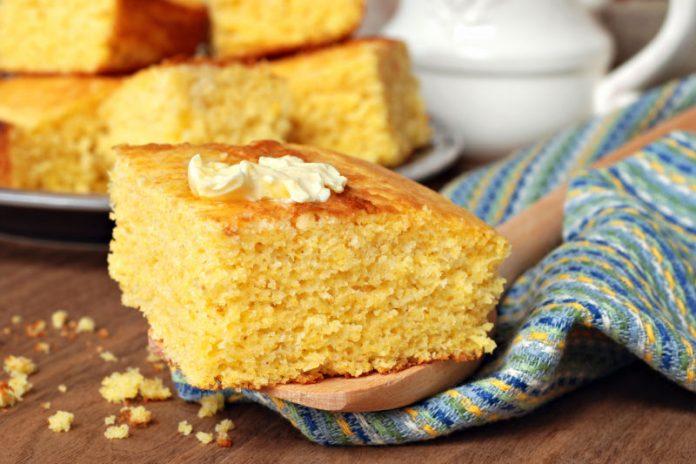 gluten-free cornbread cut into squares