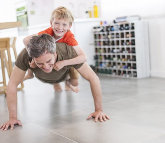 At Home Series: Ways To Sneak In A Workout While Spending Time With Your Kids